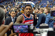 Washington Wizards Bradley Beal (3) walks off after the game during the NBA London Game match between Washington Wizards and New York Knicks at the O2 Arena, London, United Kingdom on 17 January 2019.