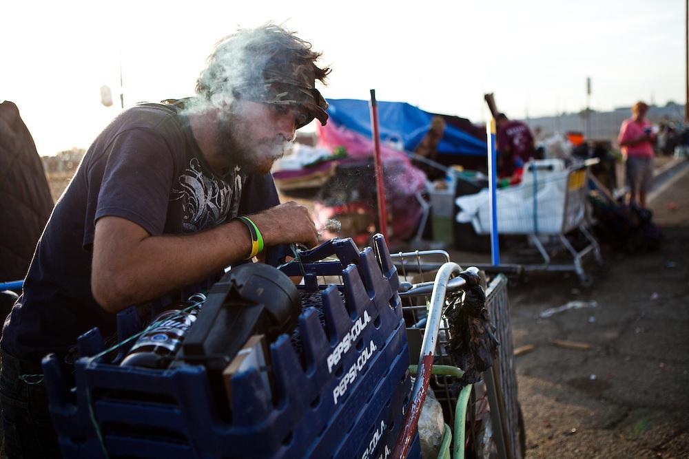 C.J. Stanphill lives on the streets of Fresno, Calif., September 20, 2012.