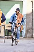 old man on bike in marrakech.