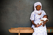 Mother and her child at the Bilbela health centre in Bilbela, northern Ghana on Wednesday March 25, 2009.