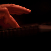 The fingers of Jeff Lorber playing the piano during his performance during the 27th DuPont Clifford Brown Jazz Festival Saturday, June 20, 2015, at Rodney Square in Wilmington, Delaware.