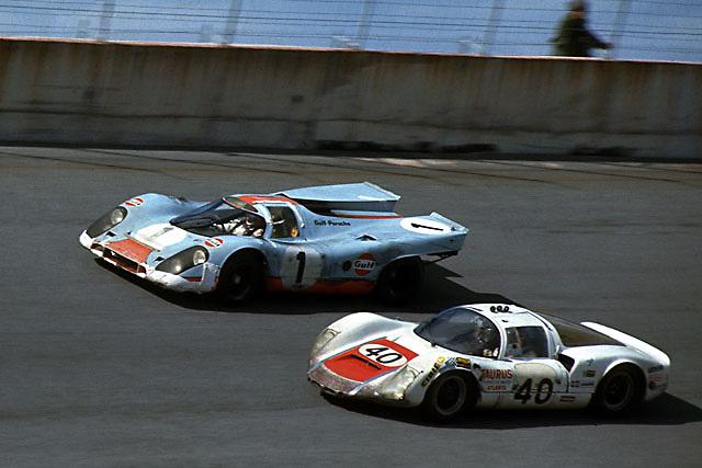 Porsches at 1970 Daytona 24 Hours race