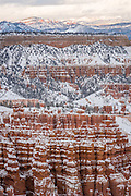 Bryce Canyon National Park During Winter with Snow