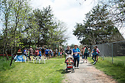 Visitors flock to the Wildcare open house in Noble, OK.