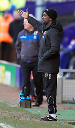 BIRKENHEAD, ENGLAND - Saturday, February 18, 2012: Charlton Athletic's manager Chris Powell during the Football League One match against Tranmere Rovers at Prenton Park. (Pic by Vegard Grott/Propaganda)