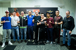 Team Italy pose during Official weighting ceremony one day before Dejan Zavec Boxing Gala event in Ljubljana, on March 10, 2017 in Grand Hotel Union, Ljubljana, Slovenia. Photo by Vid Ponikvar / Sportida