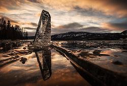 Ice Tower in Sperilen, Ringerike, Norway