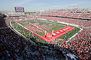 Dec 5, 2015; Houston, TX, USA; The Houston Cougars take the filed before playing against the Temple Owls  in the Mid-American Conference football championship game at TDECU Stadium. Mandatory Credit: Thomas B. Shea-USA TODAY Sports