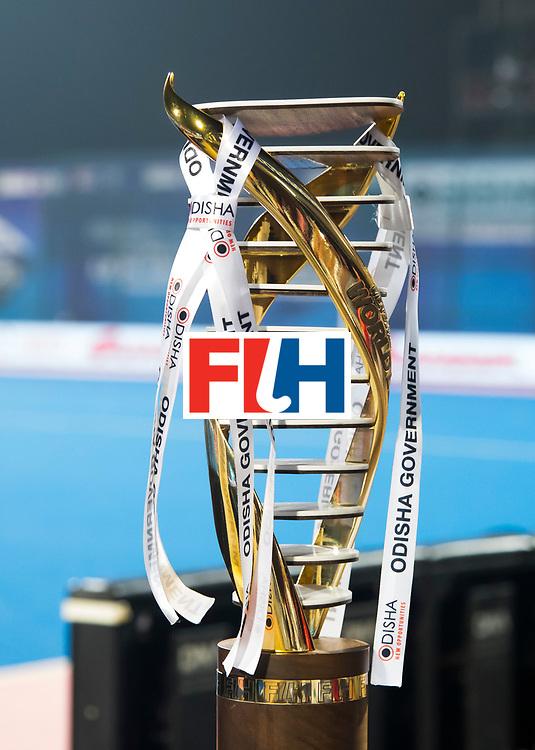 BHUBANESWAR - . The Cup., Trofee, , Final Australia-Argentina (2-1) . Australia wint de finale. COPYRIGHT KOEN SUYK