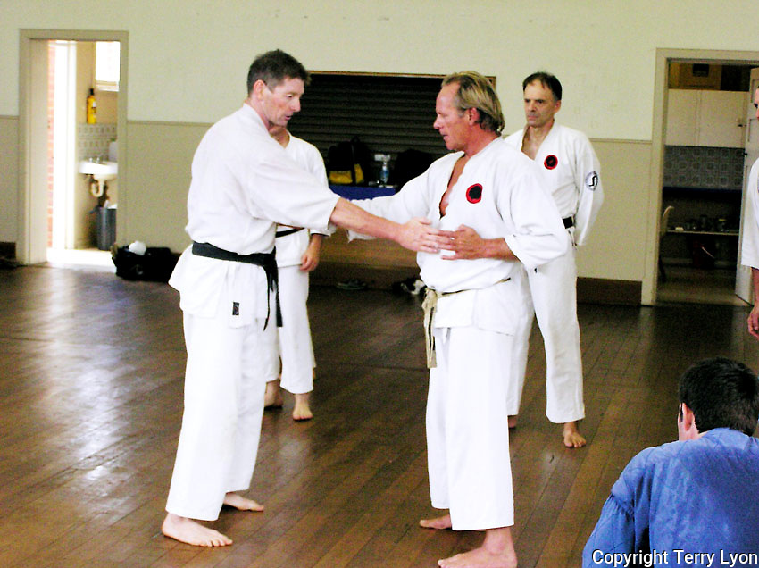 Photographs taken from 1985 to 2009 at various Dojo of Sensei Terry Lyon 6th Dan, Training sessions, Gasshuku with Sensei Graham Ravey 7th Dan,Sensei Morio Higaonna 10th Dan, Cottesloe Dojo.
