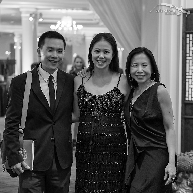 Eric and Pam Cheng, Sue Chen; WildAid Gala, November 15, 2014