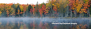 64776-010.15 Fall Color at small lake or pond Alger county in the Upper Peninsula, MI