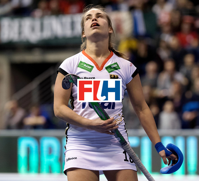 BERLIN - Indoor Hockey World Cup<br /> Women: Czech Republic - Germany<br /> foto: Lisa Altenburg.<br /> WORLDSPORTPICS COPYRIGHT FRANK UIJLENBROEK