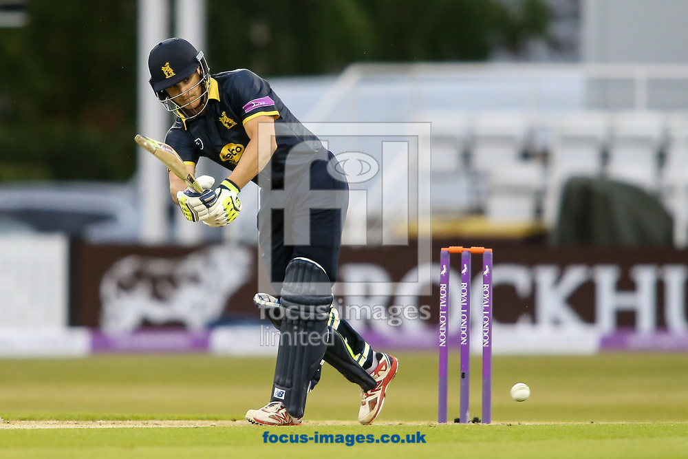 Sam Hain of Warwickshire CCC steering Warwickshire to a comfortable victory during the Royal London One Day Cup match at the County Ground, Northampton<br /> <br /> Picture by Andy Kearns/Focus Images Ltd 0781 864 4264<br /> 27/04/2017