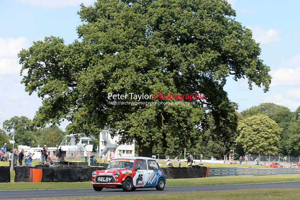 #46 Max Hunter Mini 7 during Mini Se7en - Race 1  as part of the Mini Festival  at Oulton Park, Little Budworth, Cheshire, United Kingdom. August 08 2015. World Copyright Taylor/PSP. Copy of publication required for printed pictures.  Every used picture is fee-liable. http://archive.petertaylor-photographic.co.uk