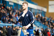 new signing Gillingham FC goalkeeper Tomas Holy (30) during the EFL Sky Bet League 1 match between Gillingham and Shrewsbury Town at the MEMS Priestfield Stadium, Gillingham, England on 28 January 2017. Photo by Andy Walter.