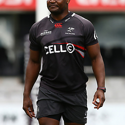 Chiliboy Ralepelle during The Cell C Sharks Cap Run at Growthpoint Kings Park in Durban, South Africa. 20th October 2017(Photo by Steve Haag)