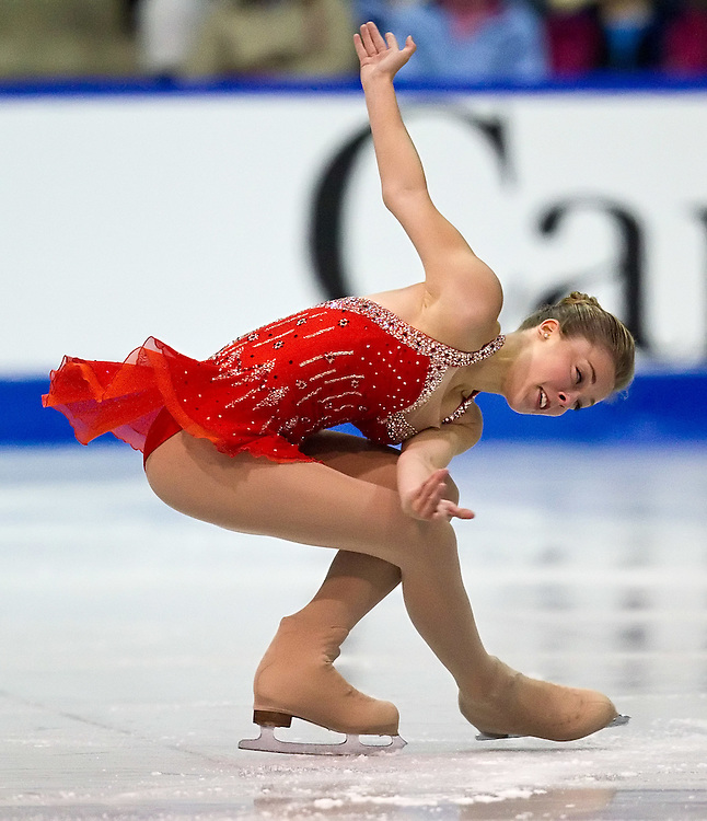 GJR336 -20111028- Mississauga, Ontario,Canada-  Ashley Wagner of The United States skates her short program at Skate Canada International, October 28, 2011.<br /> AFP PHOTO/Geoff Robins