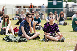 © Licensed to London News Pictures. 08/06/2014. London, UK.  Festival atmosphere at Field Day Festival 2014.  Field Day is an annual outdoor music festival which takes place in Victoria Park in London.    Photo credit : Richard Isaac/LNP