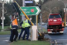 Rotorua-Three arrested crashing stolen car