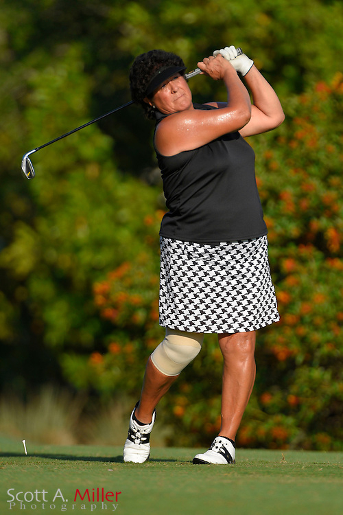 Nancy Lopez during the final round of the Chico's Patty Berg Memorial on April 19, 2015 in Fort Myers, Florida. The tournament feature golfers from both the Symetra and Legends Tours.<br /> <br /> &copy;2015 Scott A. Miller