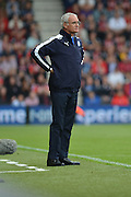 Leicester City's manager Claudio Ranieri during the Barclays Premier League match between Bournemouth and Leicester City at the Goldsands Stadium, Bournemouth, England on 29 August 2015. Photo by Mark Davies.