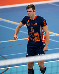 20-01-2019 NED: Talent Team Papendal - Achterhoek Orion, Ede<br /> Round 14 of Eredivisie volleyball. Orion win 3-01 of Talent Team / Peter Ogink #6 of Orion