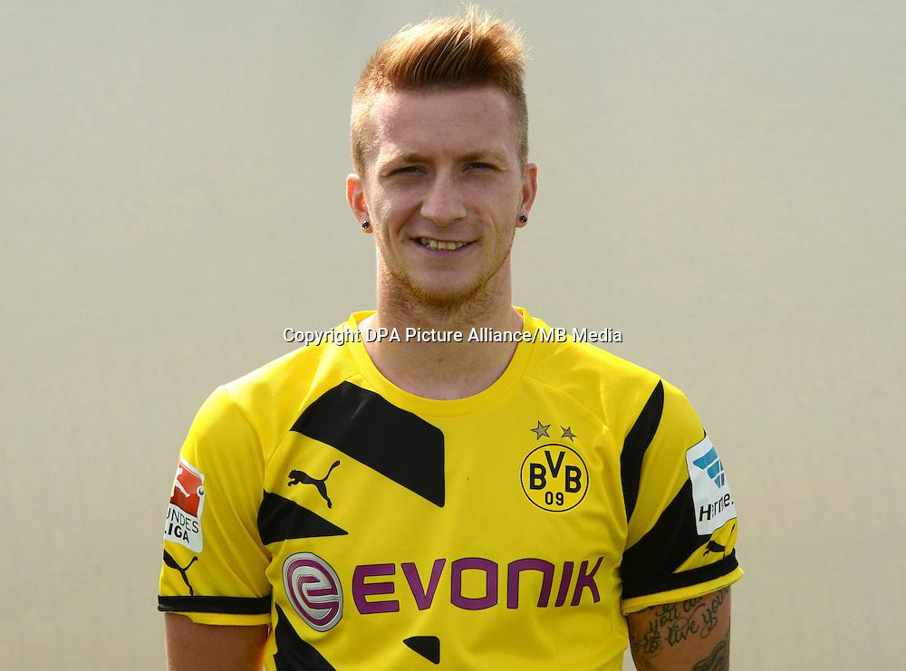 German Soccer Bundesliga - Photocall Dortmund on August 11, 2014: Marco Reus.