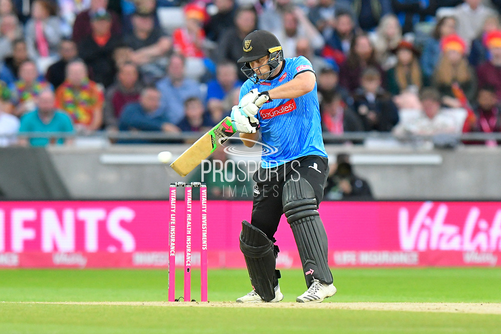 Luke Wright of Sussex batting during the final of the Vitality T20 Finals Day 2018 match between Worcestershire Rapids and Sussex Sharks at Edgbaston, Birmingham, United Kingdom on 15 September 2018.