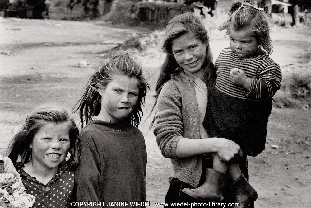 Irish Tinker Traveller children in Southern Ireland in the 1970's.