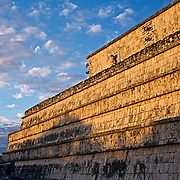 Temple of the warriors. Chichen Itza, Yucatan. Mexico.