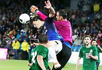 Fotball , 8. august 2013 , Europa League , Third Qual.<br /> Strømsgodset - Jablonec<br /> <br /> Jørgen Horn , SIF<br />  Michal Spit , Jabonec