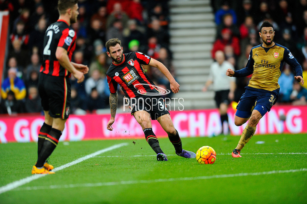 AFC Bournemouth defender Steve Cook during the Barclays Premier League match between Bournemouth and Arsenal at the Goldsands Stadium, Bournemouth, England on 7 February 2016. Photo by Graham Hunt.