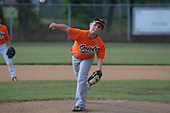 The Orioles' Brooks Williams pitches in Oxford Park Commission baseball action at FNC Park in Oxford, Miss. on Thursday, May 17, 2012.