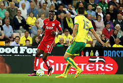 Tammy Abraham of Bristol City runs with the ball against Timm Klose of Norwich City - Mandatory by-line: Robbie Stephenson/JMP - 16/08/2016 - FOOTBALL - Carrow Road - Norwich, England - Norwich City v Bristol City - Sky Bet Championship