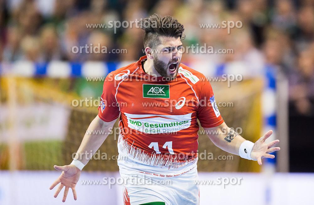 Berlin, Deutschland, 17.05.2015:<br />Handball EHF Pokal Finale 2014 / 2015 - Fuechse Berlin - HSV Hamburg - EHF CUP Finals 2014/15.<br /><br />Kevin Herbst (HSV #11) *** Local Caption *** &Acirc;&copy; pixathlon