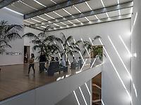 Интерьер холла музея МоМА в Нью-Йорке.