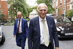 © Licensed to London News Pictures. 20/07/2017. London, UK. Vince Cable is seen with Tim Farron before he is announced as the new Liberal Democrat party leader. Previous leader Tim Farron stepped down after the general election. Photo credit: Peter Macdiarmid/LNP