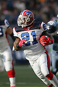 SEATTLE - NOVEMBER 28:  Running back Willis McGahee #21 of the Buffalo Bills rushed for 116 yards on 28 carries (four for touchdowns) against the Seattle Seahawks at Qwest Field on November 28, 2004 in Seattle, Washington. The Bills defeated the Seahawks 38-9. ©Paul Anthony Spinelli *** Local Caption *** Willis McGahee