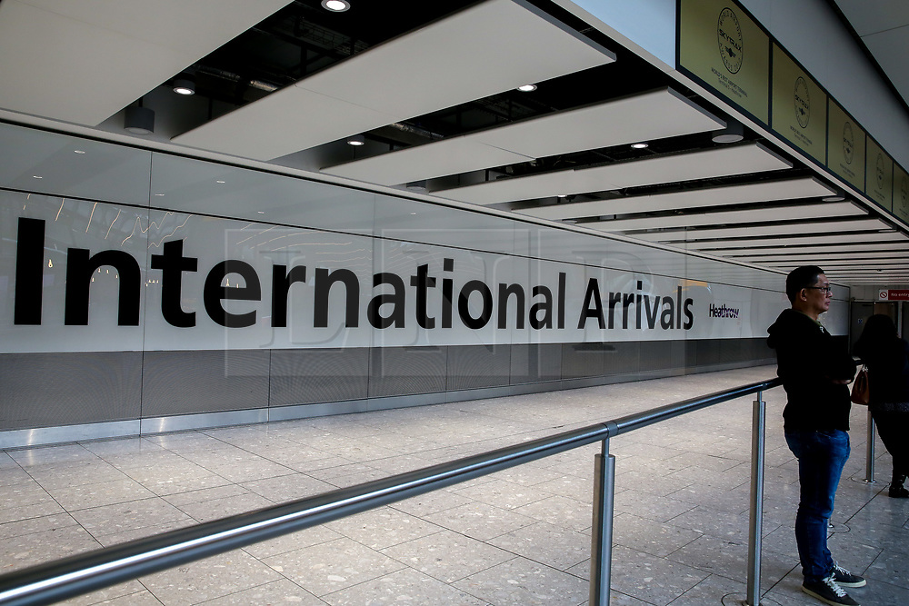 © Licensed to London News Pictures. 09/09/2019. London, UK. Heathrow Terminal 5 Arrivals is completely empty as tens of thousands of British Airways passengers <br /> face disruption on the first day of the two days first-ever strike staged by British Airways pilots dispute over pay. British Airways had requested its passengers that they were unlikely to travel and to make alternative arrangements prior to the strike action. Photo credit: Dinendra Haria/LNP