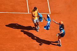 April 22, 2018 - Monte Carlo, FRANCE - Rafael Nadal (Esp) defeated Kei Nishikori  (Credit Image: © Panoramic via ZUMA Press)