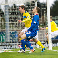 Inverness Caledonian Thistle v St Johnstone...27.10.12      SPL<br /> David Robertson celebrates his late equaliser as Gavin Morrison despiars<br /> Picture by Graeme Hart.<br /> Copyright Perthshire Picture Agency<br /> Tel: 01738 623350  Mobile: 07990 594431