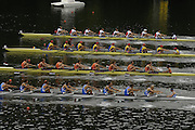 2006 FISA World Cup, Lucerne, SWITZERLAND, 07.07.2006. Men's Eights Bottom to top -  ITA M8+, NED M8+, ROM M8+,  SUI M8+, Photo  Peter Spurrier/Intersport Images email images@intersport-images.com.[Friday Morning]....[Mandatory Credit Peter Spurrier/Intersport Images... Rowing Course, Lake Rottsee, Lucerne, SWITZERLAND.