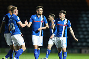 GOAL Matthew Lund celebrates scoring 1-0  during the EFL Sky Bet League 1 match between Rochdale and Port Vale at Spotland, Rochdale, England on 28 February 2017. Photo by Daniel Youngs.