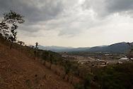 En Consultas Municipales llevadas a cabo en San Rafael Las FLores, Santa Rosa, Guatemala (marzo de 2012) mas del 98% de la poblacion empadronada expresaron su rechazo a la instalacion de proyectos mineros en el area.  En abril del 2012, el Ministerio de Energia y Minas de Guatemala le otorgo a Minera San Rafael, S.A., filial de Tahoe Resources Inc., otra licencia de exploracion que toca partes de cinco municipios, incluyendo Nueva Santa Rosa, San Rafael Las FLores y Casillas..PHOTO:  Graham Charles Hunt.IMAGENES LIBRES