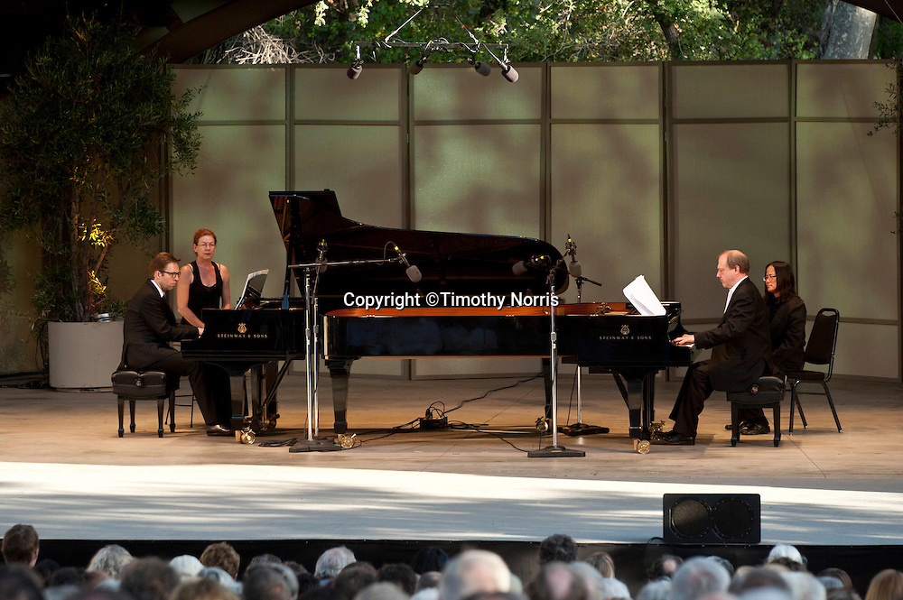 Leif Ove Andsnes and Marc-André Hamelin perform works by John Luther Adams and Igor Stravinsky at the 66th Ojai Music Festival on June 10, 2012 in Ojai, California.