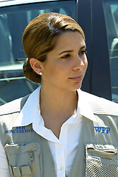 File photo - Jordan's Princess Haya, sister of King Abdullah II, wife of Dubai's Sheikh Mohammed Al Maktoum, and goodwill ambassador of the World Food Program (WFP), visits a camp for Lebanese refugees in Zabadani, west of Damascus, Syria on August 4, 2006. The younger wife of the ruler of Dubai, the billionaire race horse owner Sheikh Mohammed bin Rashid al-Maktoum, is believed to be staying in a town house near Kensington Palace after fleeing her marriage. Princess Haya bint al-Hussein, 45, has not been seen in public for weeks. One half of one of the sporting world's most celebrated couples, she failed to appear at Royal Ascot last month with her husband. Photo by Balkis Press/ABACAPRESS.COM