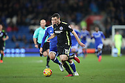 Brighton & Hove Albion winger Jamie Murphy (15) during the EFL Sky Bet Championship match between Cardiff City and Brighton and Hove Albion at the Cardiff City Stadium, Cardiff, Wales on 3 December 2016.