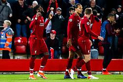 Divock Origi of Liverpool celebrates scoring a goal to make it 4-0 - Mandatory by-line: Robbie Stephenson/JMP - 07/05/2019 - FOOTBALL - Anfield - Liverpool, England - Liverpool v Barcelona - UEFA Champions League Semi-Final 2nd Leg