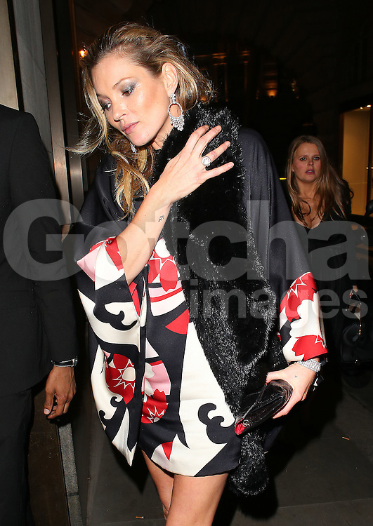 Kate Moss atttends the British Fashion Awards After Party at Cafe Royal in London, UK. 01/12/2014<br />